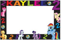 A personal favorite from my Etsy shop https://www.etsy.com/listing/245074706/my-little-pony-photo-booth-frame