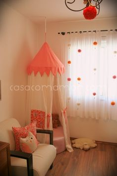 Perfect bedroom decor for a girl :) :) Baby Bedroom, Baby Room Decor, Girls Bedroom, Bedroom Decor, Big Girl Rooms, Boy Room, Kids Room, Toddler Tent, Tent Chair