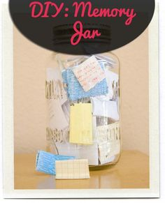 DIY Memory Jar. Easy way to keep all your memories and keepsakes in one place!