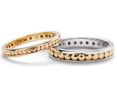 Rivet Eternity Band Set in Yellow + White Gold