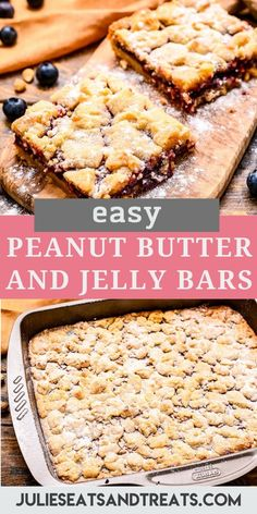 Love a peanut butter and jelly sandwich? Soft, chewy Peanut Butter and Jelly Bars perfect dessert, bake sale treat, potluck dessert or after school snack. Potluck Desserts, Just Desserts, Dessert Recipes, Oreo Desserts, Breakfast Recipes, Yummy Snacks, Delicious Desserts, Yummy Food, Yummy Treats