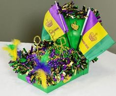Have kids make mardi gras floats out of shoe boxes & have a mini parade @franbevel