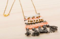 You won't believe how easy it is to make this woven necklace.