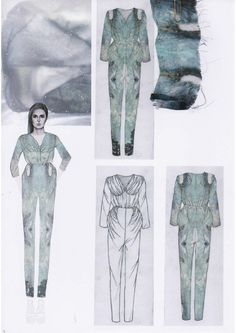 Fashion Sketchbook - fashion illustrations & print design development; fashion design portfolio // Emily-Mei Cross