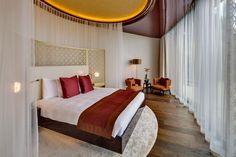 The Dolder Grand, Zurique - by Norman Foster. Norman Foster, Contemporary Architecture, Interior Architecture, Interior Design, Grand Hotel, Modern Luxury, Terrazzo, Best Hotels, Bed