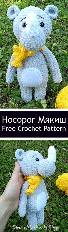 PDF Носорог Мякиш. FREE amigurumi crochet pattern. Бесплатный мастер-класс, схема и описание для вязания игрушки амигуруми крючком. Вяжем игрушки своими руками! Плюшевый носорог, зефирная игрушка, plush rhinoceros, rhino. #амигуруми #amigurumi #amigurumidoll #amigurumipattern #freepattern #freecrochetpatterns #crochetpattern #crochetdoll #crochettutorial #patternsforcrochet #вязание #вязаниекрючком #handmadedoll #рукоделие #ручнаяработа #pattern #tutorial #häkeln #amigurumis