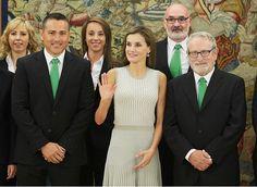 Queen Letizia met with participants of Polar Life Challenge in the Zarzuela Palace/ September 5, 2017