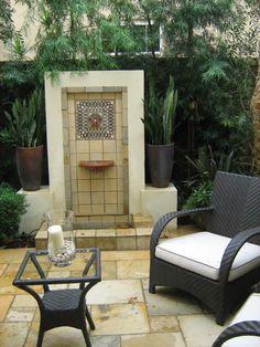 Outdoor tile fountain