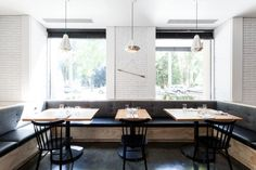Hock Farm Restaurant with Concrete Floors and White Brick Walls, Remodelista