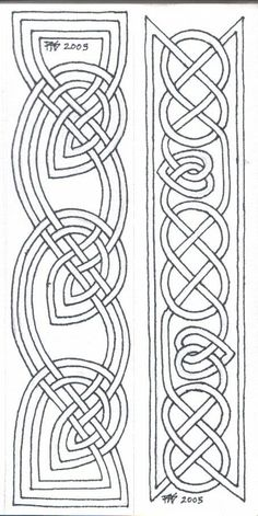 Pigma Micron size 01 on paper, two 1 x designs Two bookmarks of a group I'm doing for gifts for my housemates. Please feel free to print these o. Bookmarks Line Art 1 Viking Embroidery, Embroidery Patterns, Quilt Patterns, Celtic Quilt, Celtic Symbols, Celtic Art, Celtic Knots, Celtic Mandala, Viking Designs