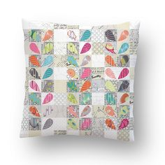 sewn from the collections PAPER and FOR YOU, both by Brigitte Heitland of Zen Chic for Moda Sewing Pillows, Diy Pillows, Custom Pillows, Decorative Pillows, Throw Pillows, Patchwork Cushion, Quilted Pillow, Small Quilts, Mini Quilts