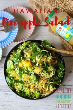 This simple easy Hawaiian Pineapple Salad is perfectly suited for any grilled meat or seafood! Healthy, easy and quick to make, it's a winner! #pineapplesalad #hawaiiansalad Easy Salads, Healthy Salads, Easy Meals, Healthy Recipes, Pineapple Salad, Pineapple Recipes, Hawaiian Salad, Different Salads, Best Sandwich