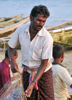India - Odisha - Puri - Fisherman with Net Rath Yatra, Sanctum Sanctorum, Lord Jagannath, Lions Gate, Bay Of Bengal, Sand Art, Photographs, Photos, Nepal