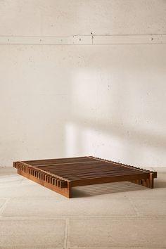 """bett Sarah Slatted Platform Bed Remember, """"used furniture"""" does not necessarily mean inferior qualit Bed Frame Design, Diy Bed Frame, Bed Frames, Low Wooden Bed Frame, Simple Bed Frame, Diy Queen Bed Frame, Twin Xl Bed Frame, Floor Bed Frame, Lit Plate-forme Diy"""