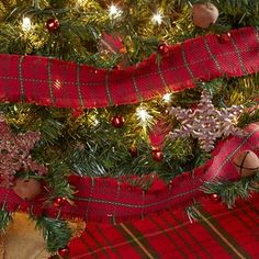 Decorate your Christmas tree with our Jasper Fringed Garland 9'! https://www.primitivestarquiltshop.com/search?type=product&q=jasper+fringed+garland #MerryChristmas