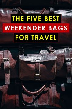The good news is you want to graduate from backpacks and gym bags to a proper weekender bag for men. The bad news is you have no clue where to start. Leaning on my frequent traveling expertise, I've nominated 5 candidates for the best weekender bag for men. Keep reading for more! #weekenderbag #weekender #duffelbag men's weekend bag, men's weekender, weekender bag mens, weekender bag mens travel best weekender bag for men, canvas weekender bag for men, leather weekender bag for men