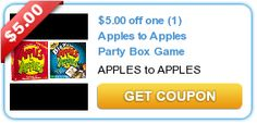 $5.00 off one (1) Apples to Apples Party Box Game