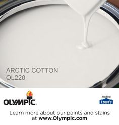 ARCTIC COTTON OL220 is a part of the grays & blacks collection by Olympic® Paint.
