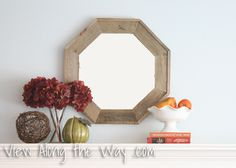 Reclaimed Lumber Octagon Mirror