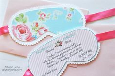 Shabby Chic Pajama Party-love these invites! www.partyista.com