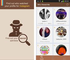 Who Watched Me - for Instagram apk screenshot Instagram For Android, Android Apps, Free