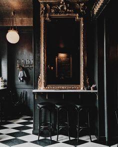 Black Paint Inspiration – Dark Wall Home Painting Ideas - New Deko Sites Home Design, Home Interior Design, Interior And Exterior, Interior Decorating, Decorating Tips, Design Ideas, Ad Design, Gothic Interior, Decorating Websites