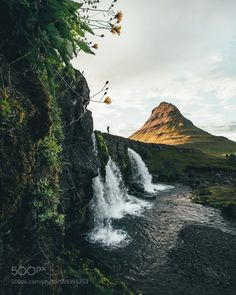 Details At Kirkjufell by Fursty  landscape nature waterfall mountain outdoors iceland kirkjufell Details At Kirkjufell Fursty