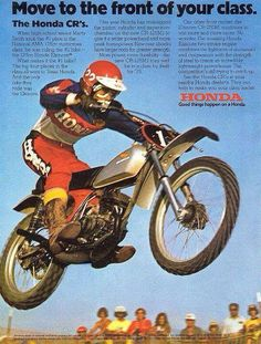 1974 - Honda CR Elsinore - Vintage Dirt Bike Ad