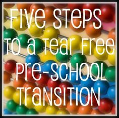 I'll need this in a few years > Preparing For Transition into Pre-School via @aurabeth720 #healhtyhabits #cgc