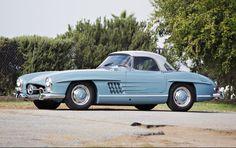 1959 Mercedes-Benz 300 SL Roadster Finished in Original Hellblau Livery