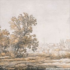 Aelbert Cuyp View of Arnhem from the South, c. 1642 1646 #art