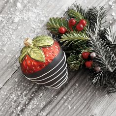 on sale :) CHOCOLATE DIPPED STRAWBERRY ORNAMENT $6.96