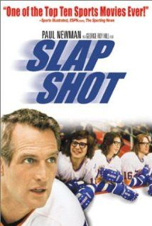 """Slap Shot """"A failing ice hockey team finds success using constant fighting and violence during games. Film Music Books, Music Tv, Movie Theater, I Movie, Good Comedy Movies, Comedy Film, Football Movies, Slap Shot, In And Out Movie"""