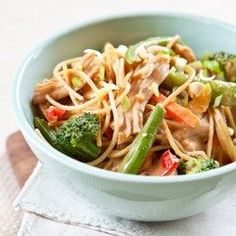 Peanut Noodles with Chicken and Vegetables - EatingWell.com