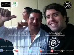 me dio mucho gusto volver a saludarte Gabriel Sanelli C (Gerente General Holiday Inn Hermosillo) en el evento de la presentación de La Tinto Hermosillo!!! buena vibra!!! #chefcms #latintobistro #holidayinn #hermosillo #mediosdecomunicación #invitadosespeciales