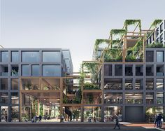 architecture REBEL is a bold, flexible and sustainable design for the plot Zuidas Amsterdam. A smart framework enables spatial flexibility for a mixed-use building; Architecture Module, Villa Architecture, Architecture Durable, Green Architecture, Futuristic Architecture, Sustainable Architecture, Sustainable Design, Contemporary Architecture, Japanese Architecture