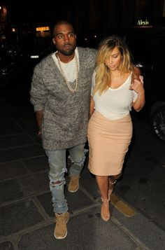 Kim Kardashian Flaunts Post-Baby Body In Tight Skirt on Date Night With Kanye West
