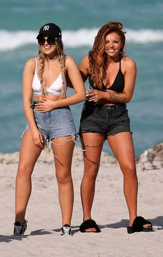 Perrie Edwards & Jesy Nelson from The Big Picture: Today's Hot Photos LOL! The members of Little Mix share a laugh while on the beach in Miami.