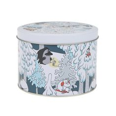 Beautiful round jar featuring beloved Moomin characters in a winter theme. Cheer up your every day moments with this beautiful and multipurpose jar. Moomin Shop, Winter Theme, Dear Santa, Tin, Ikea, Cheer, Character, Beautiful, Home Decor