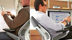 This office chair designed specifically for smartphone users lets you comfortably position yourself in all those funny ways we tend to sit while we're using our phones.