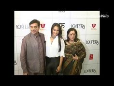 sonakshi sinha with her dad and mom at LOOTERA's success party.