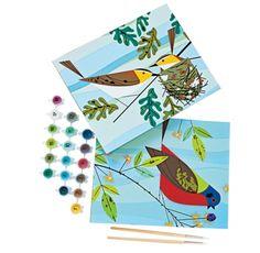 Craft kits for kids by illustrator Charley Harper. #crafts #diy