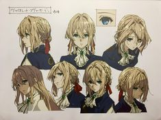 Violet Evergarden character sheet at a KyoAni exhibit : anime Kyoani Anime, Fanarts Anime, Anime Characters, Anime Art, Character Model Sheet, Character Modeling, Character Art, Dandere Anime, Violet Evergreen
