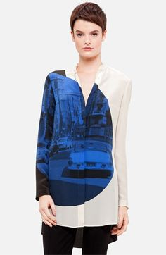 Akris punto 'Focus Print' Silk Tunic available at Nordstrom