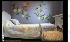 Wall painting for girls room