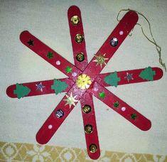 étoile de Noël à fabriquer --> très facile en bricolage autonome 1H et 2H