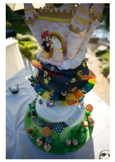 Mario Wedding cake.  I dare you, no I double-dare you... No I physical challenge the only baking diva capable of such greatness.  APP