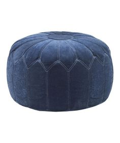 Take a look at this Royal Blue Pouf Ottoman $129 by JLA Home on #zulily today!  Deliver by Christmas. Refer a friend to Zulilly...you will earn $15.00 and so will your friend after 1st purchase!