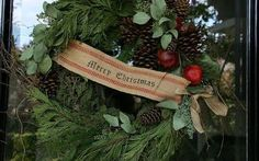 christmas wreath gets personal, christmas decorations, crafts, seasonal holiday decor, wreaths, Any wreath will work I used a handmade wreath purchased from a street vendor but Costco has great wreaths also