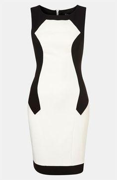 Topshop Colorblock Illusion Dress